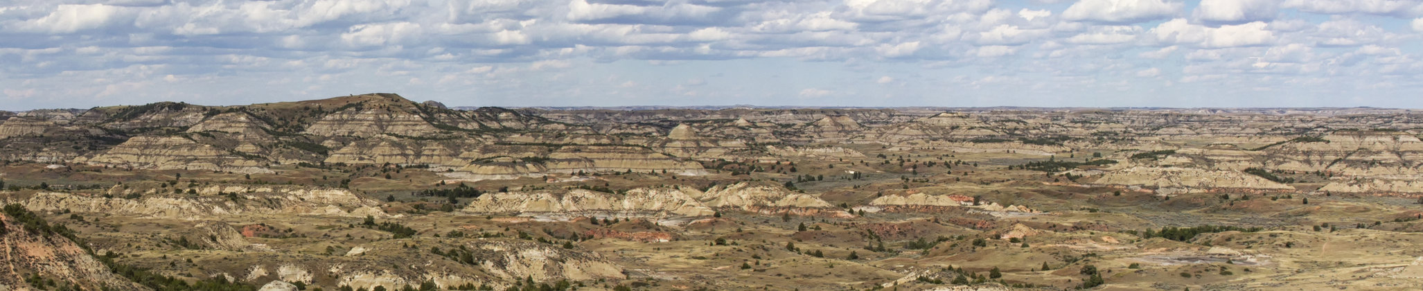 Badlands of Theodore Roosevelt National Park. Medora, North Dakota